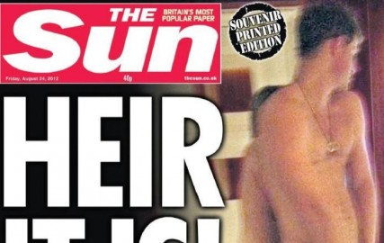 Le Prince Harry en couverture de The Sun