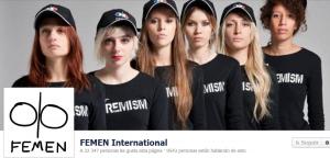 Página de FEMEN en Facebook. ¿Modelos o activistas?