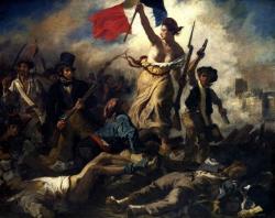 Friheten på barrikaderna, Eugène Delacroix (1830)