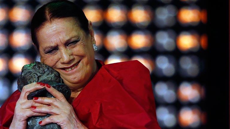 Terele Pávez recibe su primer Goya: mejor actriz de reparto por Las Brujas de Zugarramurdi