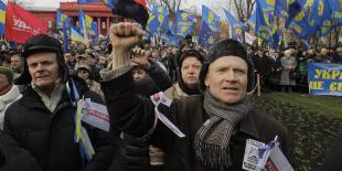 Protest na Ukrainie.