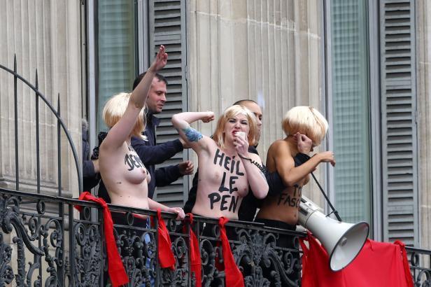 Prvomájový protest hnutí Femen