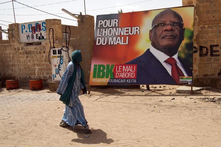 Affiche lectorale d'Ibrahim Boubacar Keita le 24 juillet 2013  Tombouctou.