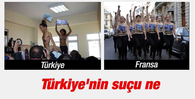 FEMEN'in Trkiye-Fransa ayrm