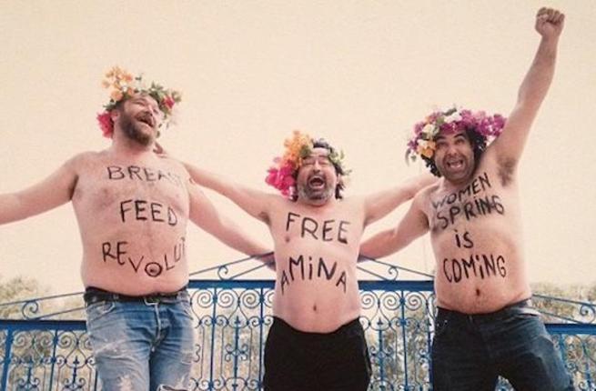 FEMEN impersonators. (Photo courtesy of Al-Akhbar and ST McNeil)