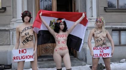 Activistas de Femen durante una de sus protestas.