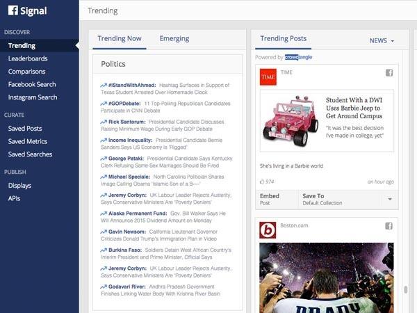Facebook introduce Signal in aiuto di giornalisti e blogger