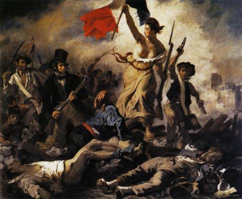 Marianne Libert che guida il popolo