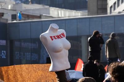 Protestos do FEMEN em Moscou, por Sergey Kukota no FlickR CC-license-BY-2.0