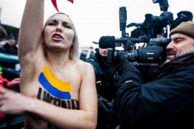 Femen in Vilnius | DELFI, Photo by T. Vinickas