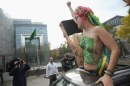 Femen all'ambasciata saudita di Berlino