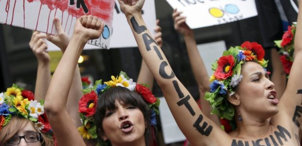 Femen-Aktivistinnen grnden Pariser Trainingszentrum