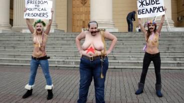 Ukrainian feminists rally in Minsk